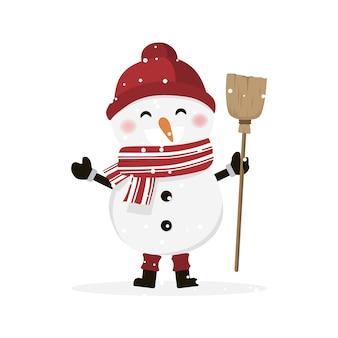 Junge als schneemann verkleidet.