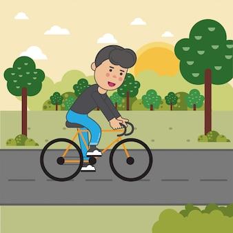 Junge auf dem fahrrad