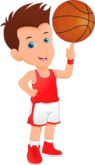 Junge basketballspieler