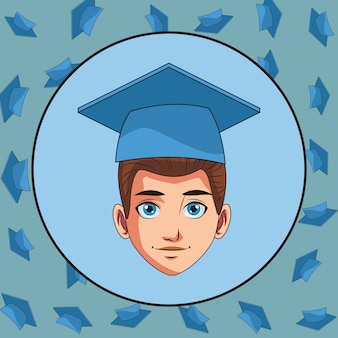 Junge diplom mann cartoon