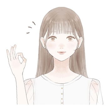Junge frau, die mit einer hand ein okay-zeichen eingibt