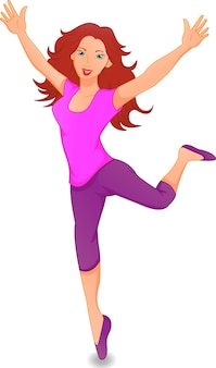 Junge Frau macht Übungen