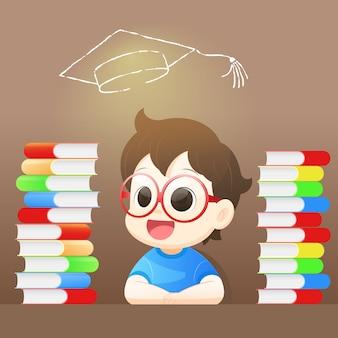 Junge hoffnung auf erfolg für den absolventen