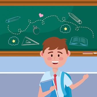 Junge kind der schule