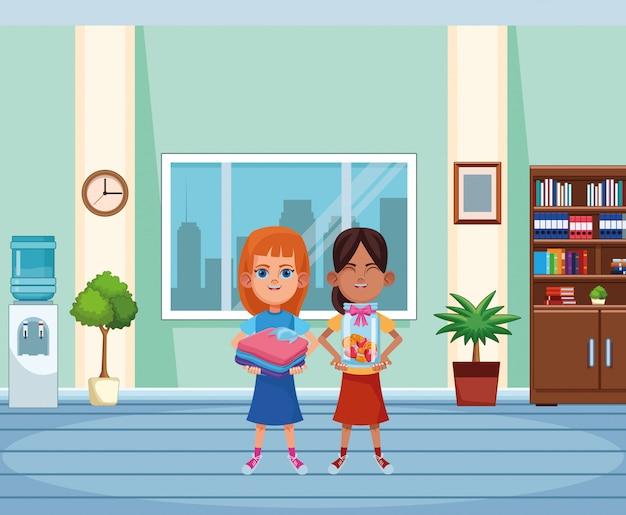 Junge kinder avatar karton charakter