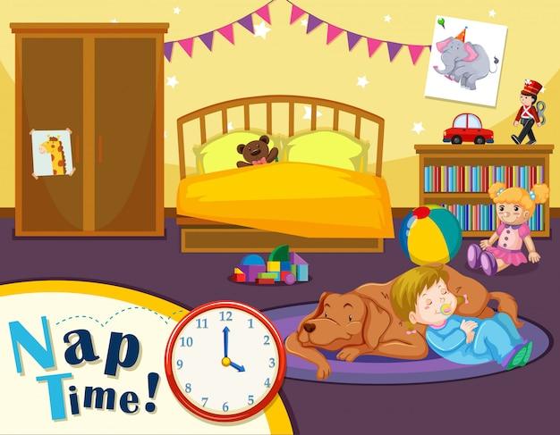 Junge kinderschlafzeit