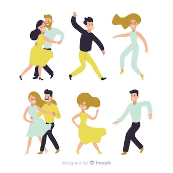 Junge leute tanzen. tanzunterricht. party