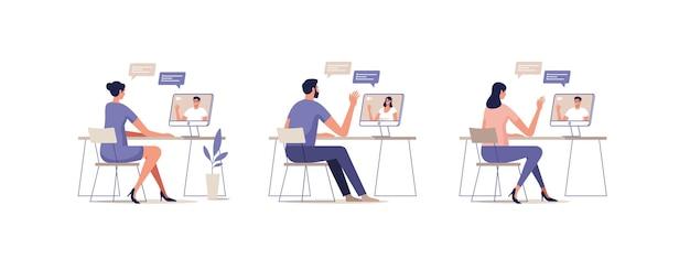 Junge menschen kommunizieren online über mobile geräte