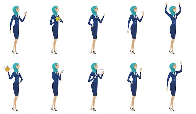 Junge muslimische stewardess festgelegt