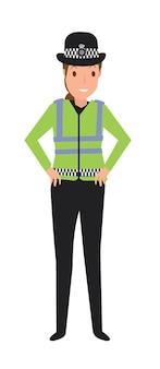 Junge polizistin im dienst
