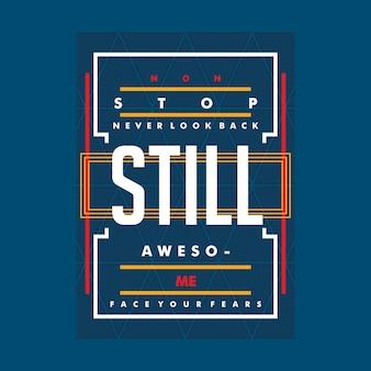 Junge slogan leben grafik typografie