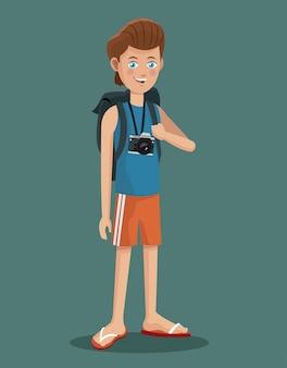Junge-tourist