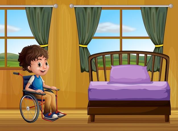 Junge und schlafzimmer
