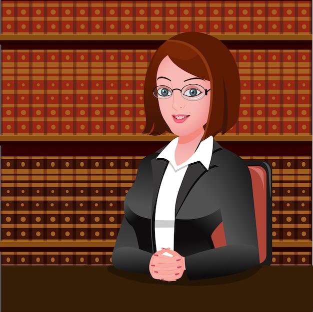 Junge weibliche rechtsanwältin