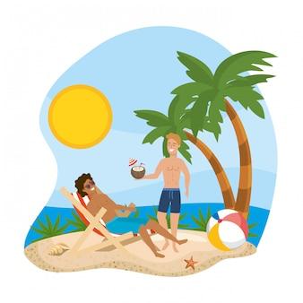 Jungen mit sommerbadebekleidung
