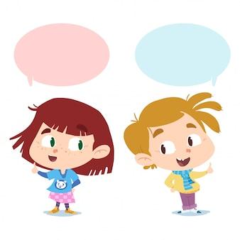 Jungen und mädchen reden