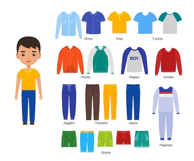 Jungenkleidung eingestellt