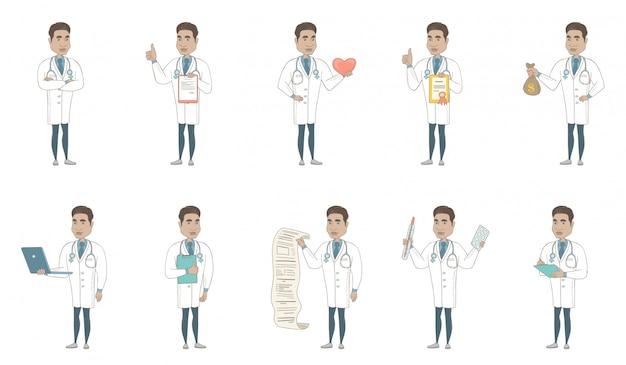 Junger hispanischer doktorzeichensatz