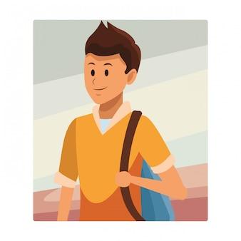 Junger mann avatar porträt