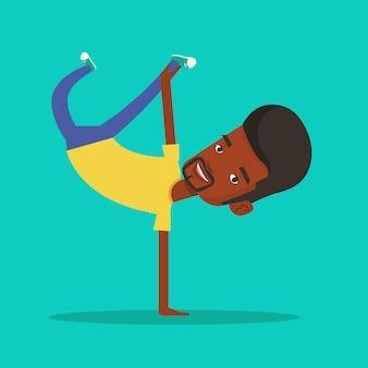 Junger mann breakdance.