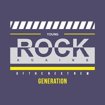 Junger rock typografie t-shirt-design