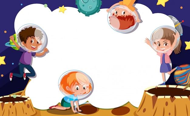 Junges astronaut-rahmenkonzept