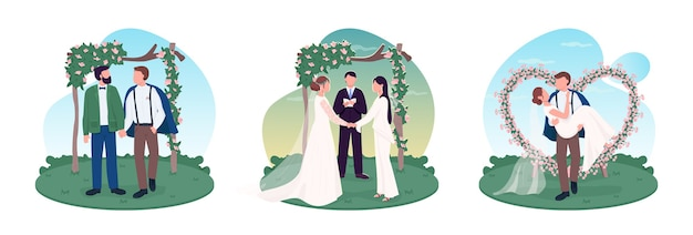 Jungvermähltenpaare 2d-webbanner