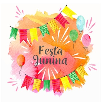 Juni festival festival aquarell design