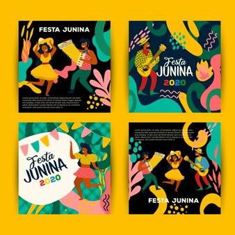 Juni festival kartensammlung design
