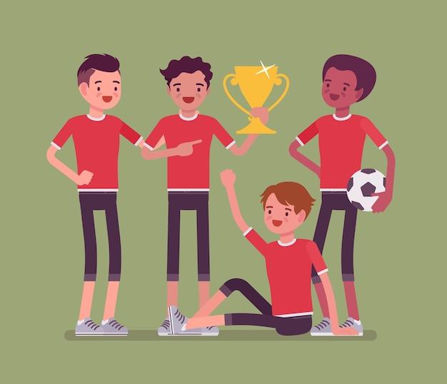 Junior fußball fußballspieler mannschaftssieger