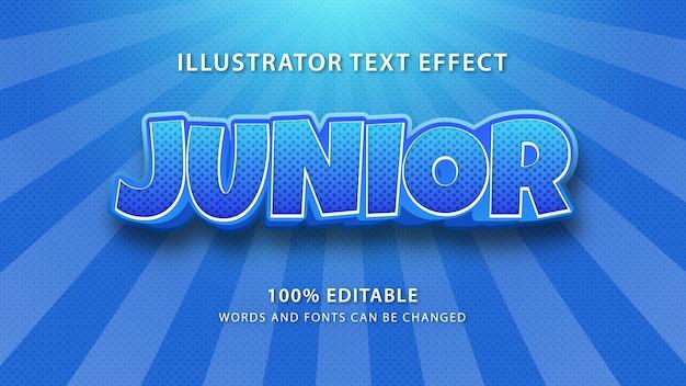Junior text style effekt, text bearbeiten