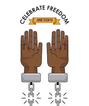 Juniteentag feiern freiheits-sklavenbild