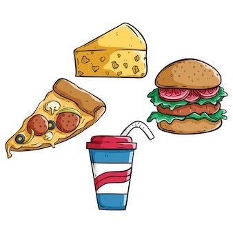 Junk-food-doodle-set