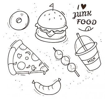 Junk Food Gekritzelillustration