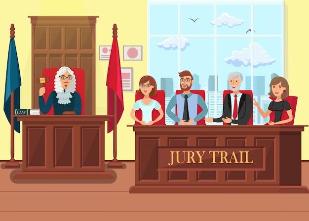 Juryprozess in arbeit