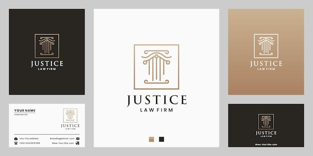Justiz, anwalt, logo-design-vorlagen gesetz