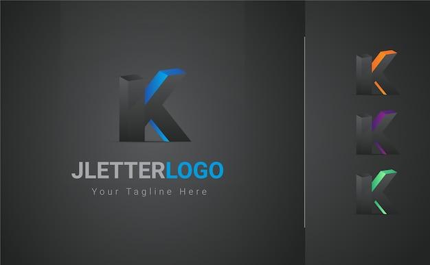 K letter 3d-logo