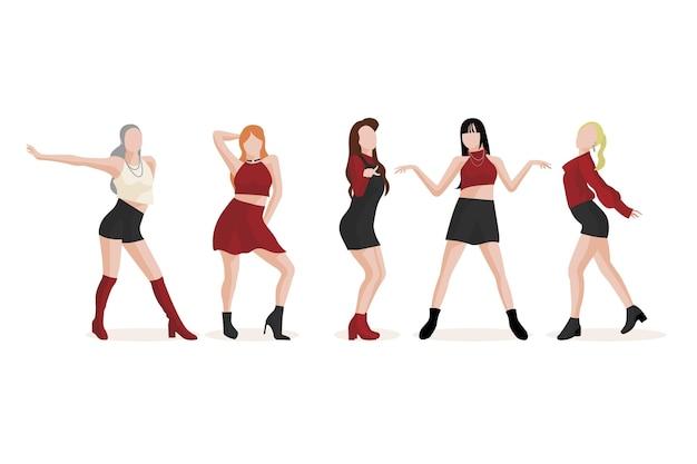 K-pop-mädchengruppenkonzept