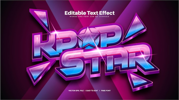 K-pop star texteffekt