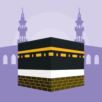 Kaaba hadsch mekka illustrationsdesign