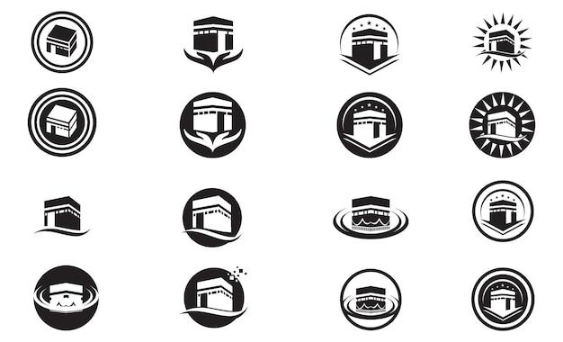 Kaaba-logo und symbolvektor