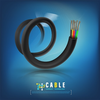 Kabel-konzept technologie kommunikation