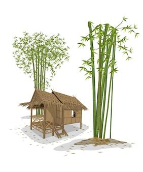 Kabine und bambus
