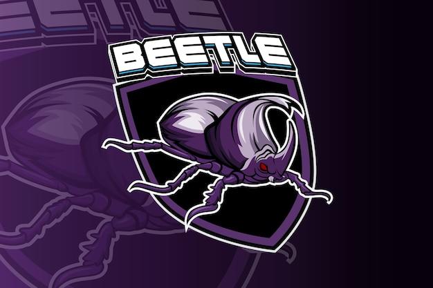Käfer gamer maskottchen esport logo
