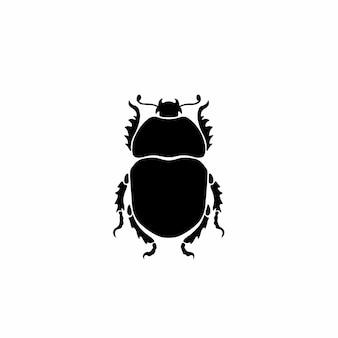 Käfer logo symbol schablone design tattoo vektor illustration