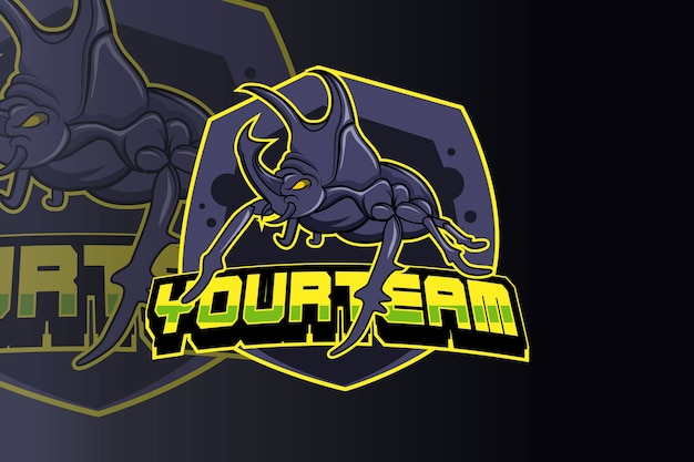 Käfer squad e sport logo vektor