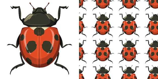 Käfer und nahtloser hintergrund