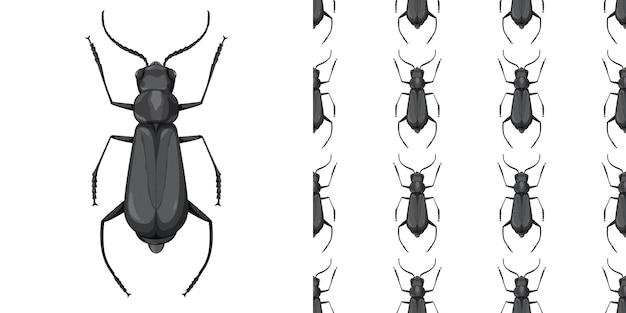 Käferinsekt und nahtloser hintergrund