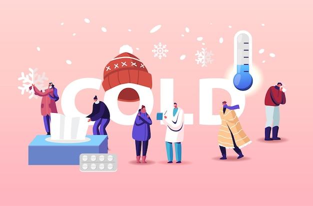 Kälte, gesundheitswesen illustration