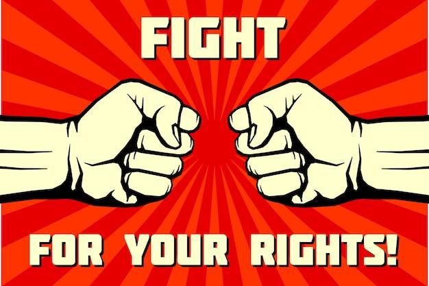 Kämpfe für dein rechtsplakat